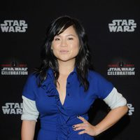 Kelly Marie Tran poses before 'The Last Jedi' panel at the Star Wars Celebration