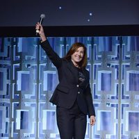 The producere Kathleen Kennedy at the panel of 'The last Jedi' in the Star Wars Celebration