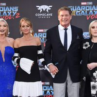 David Hasselhoff, Hayley Roberts, Hayley Hasselhoff y Taylor Hasselhoff  at world premiere of 'Guardians of the Galaxy Vol. 2'