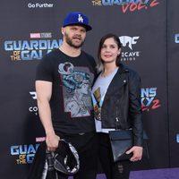 Evan Jones and Rebecca Glatt at world premiere of 'Guardians of the Galaxy Vol. 2'