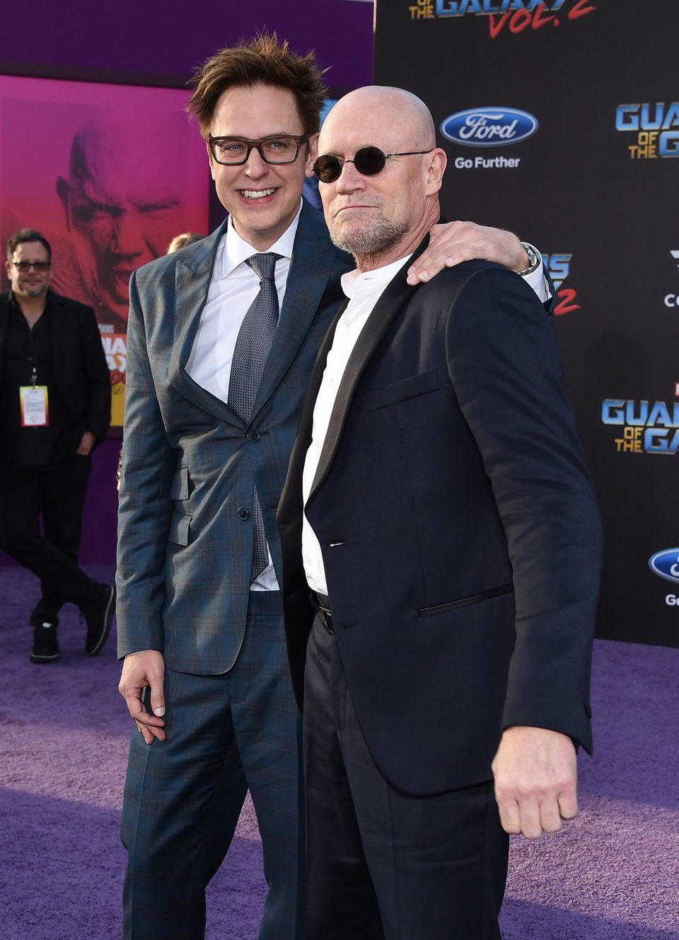 James Gunn and Michael Rooker at world premiere of 'Guardians of the Galaxy Vol. 2'