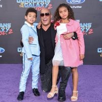 Vin Diesel with his children at world premiere of 'Guardians of the Galaxy Vol. 2'