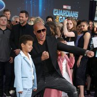 Vin Diesel and his son at world premiere of 'Guardians of the Galaxy Vol. 2'