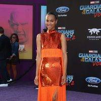 Zoe Saldana at world premiere of 'Guardians of the Galaxy Vol. 2'
