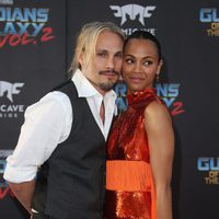 Zoe Saldana and Marco Perego at world premiere of 'Guardians of the Galaxy Vol. 2'