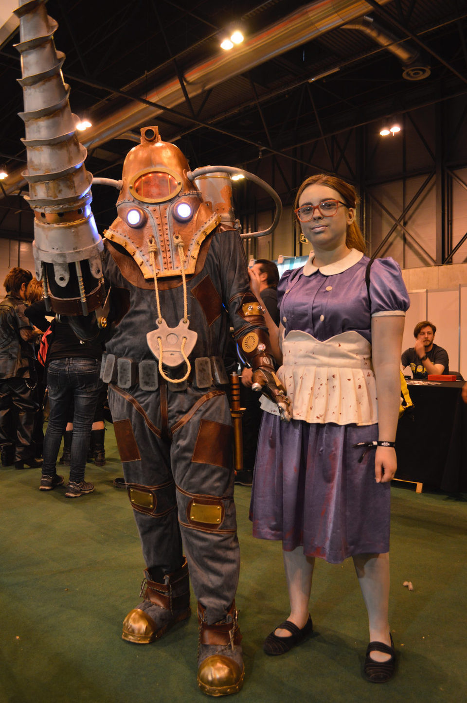 Little Sister And Big Daddy From Bioshock 2 Photos At