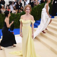 Jessica Chastain on the Met Gala red carpet 2017