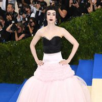Lilly Collins on the Met Gala red carpet 2017
