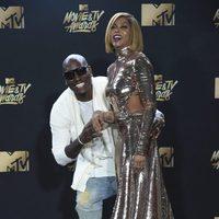 Taraji P. Henson and Tyrese Gibson during the MTV Movie & TV Awards 2017