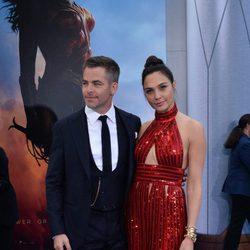 Gal Galdot and Chris Pine at the 'Wonder Woman' premiere