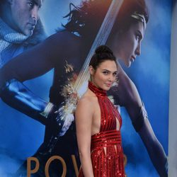 Gal Galdot at the 'Wonder Woman' premiere