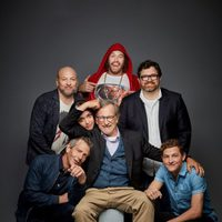 The team of 'Ready Player One' poses in the Comic-Con 2017