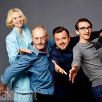 The cast of Game of Thrones poses during the Comic-Con 2017