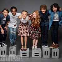 The cast of 'Stranger Things' poses during the Comic-Con 2017