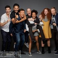 The cast of 'Star Trek: Discovery' poses during the Comic-con 2017