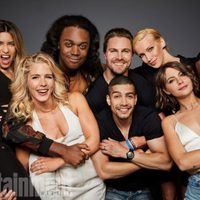 The cast of 'Arrow' poses during the Comic-Con 2017
