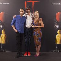 Andy Muschietti, Barbara Muschietti and Javier Botet at ?It? presentation in Madrid