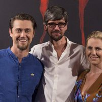 Andy Muschietti, Barbara Muschietti y Javier Botet pose cheerfully at ?It? presentation in Madrid