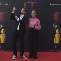 Barbara Muschietti and Andy Muschietti dress for the occasion at 'It' presentation in Madrid