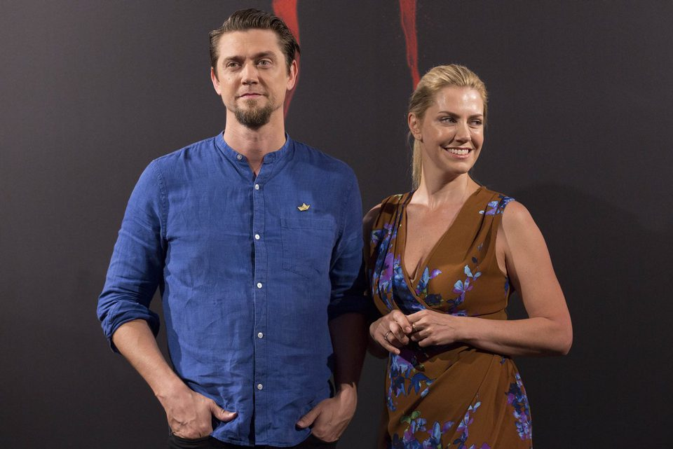 Muschietti Brothers smile during the presentation of 'It' in Madrid