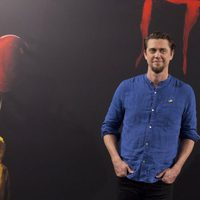 Andy Muschietti poses alone at 'It' presentation in Madrid