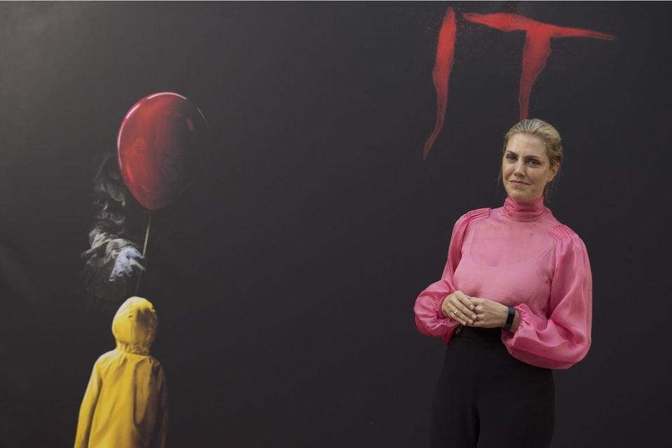 Barbara Muschietti smiles to press at 'It' presentation in Madrid