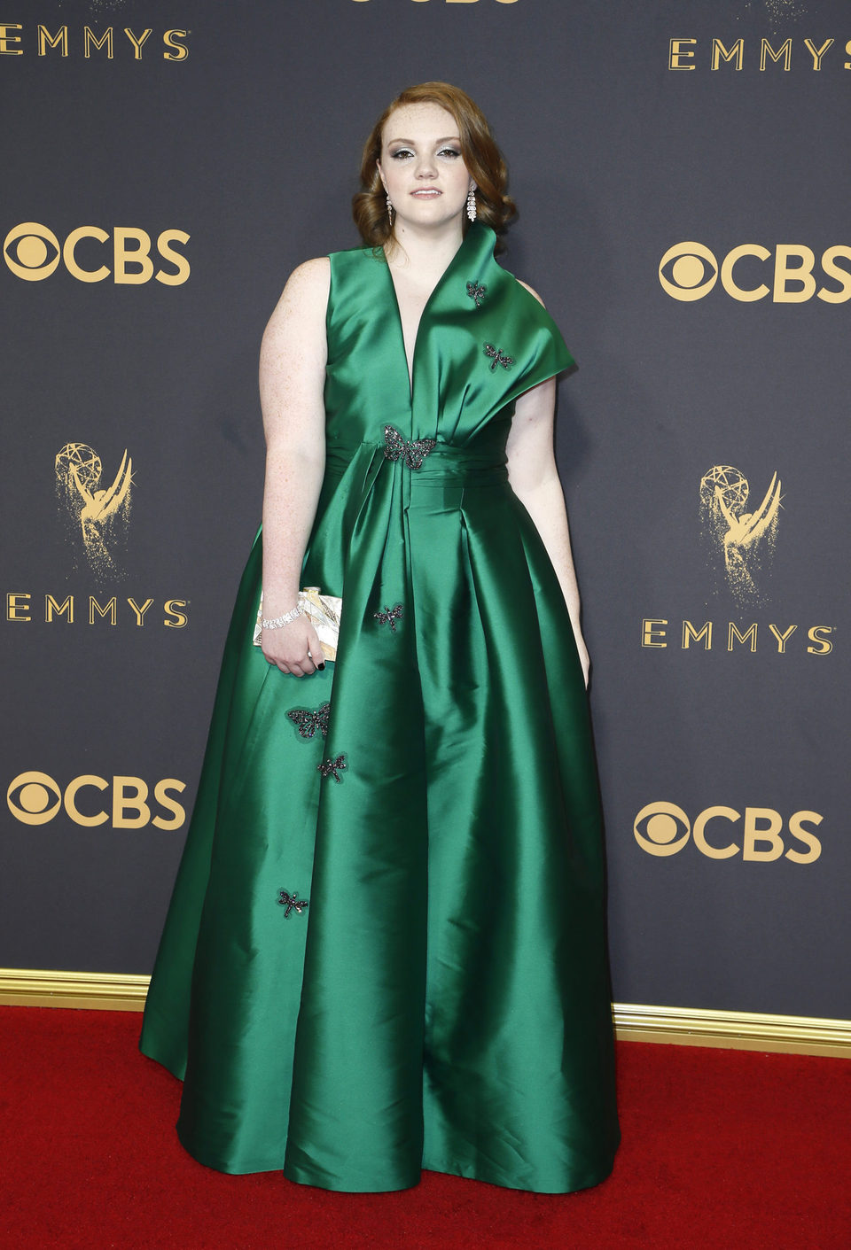 Shannon Purser at the Emmy 2017 red carpet