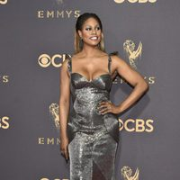Laverne Cox at the Emmy 2017 red carpet