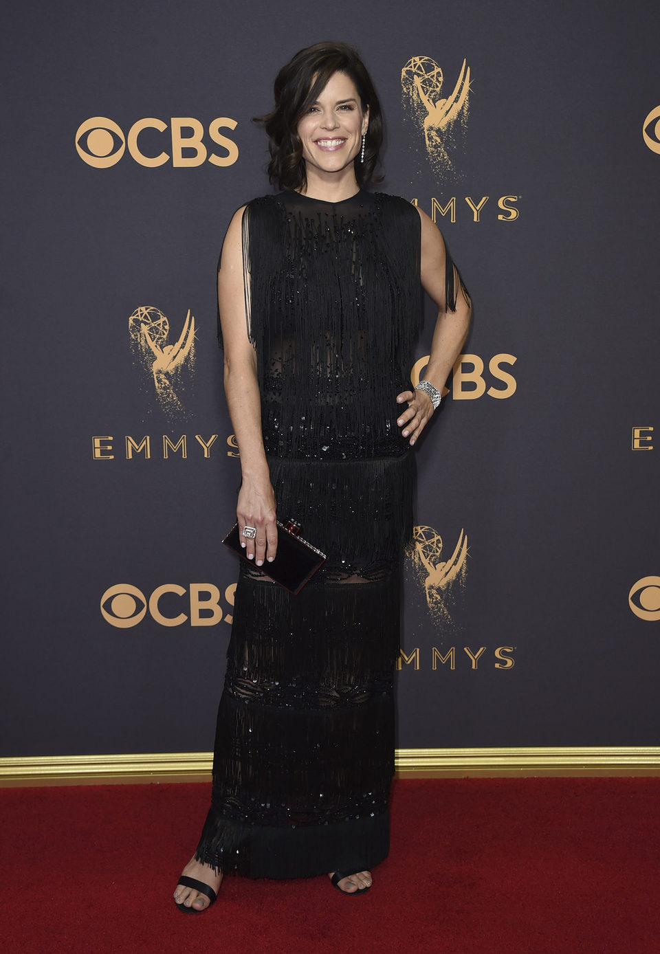 Neve Campbell at the Emmys 2017 red carpet