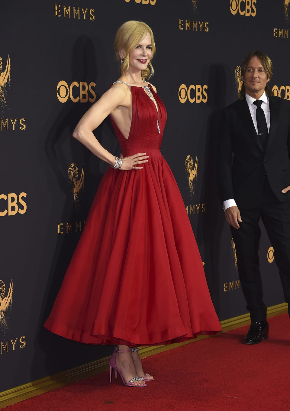 Nicole Kidman at the Emmys 2017 red carpet