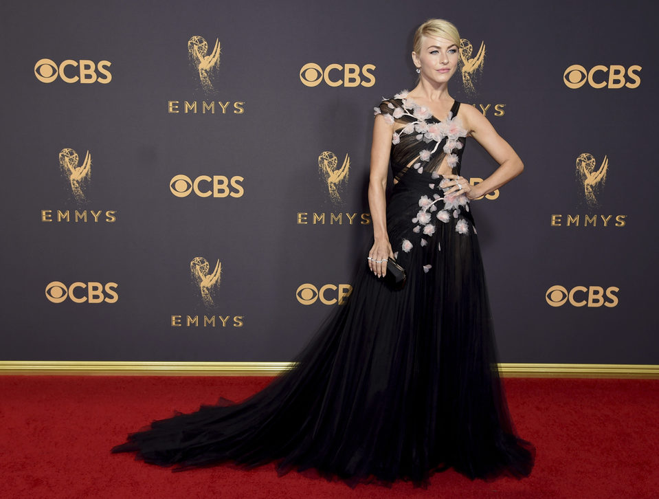 Julianne Hough at the Emmys 2017 red carpet