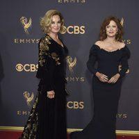 Jessica Lange and Susan Sarandon at the Emmys 2017 red carpet