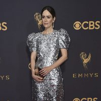 Sarah Paulson at the Emmys 2017 red carpet