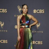 Tessa Thompson at the Emmys 2017 red carpet