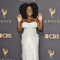 Uzo Aduba at the Emmys 2017 red carpet