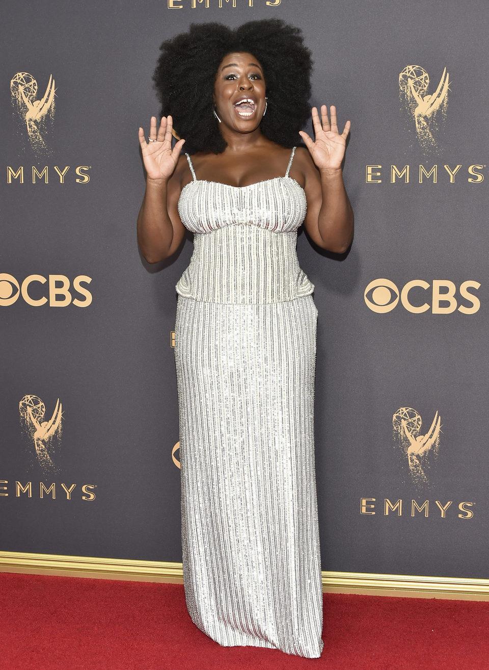 Uzo Aduba at the Emmys 2017 red carpet