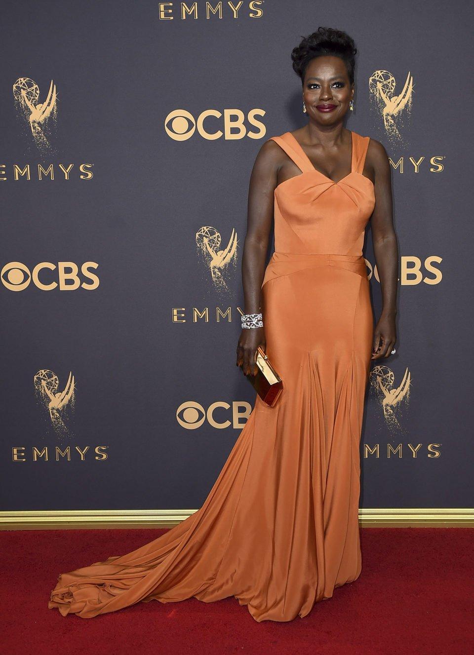 Viola Davis at the Emmys 2017 red carpet