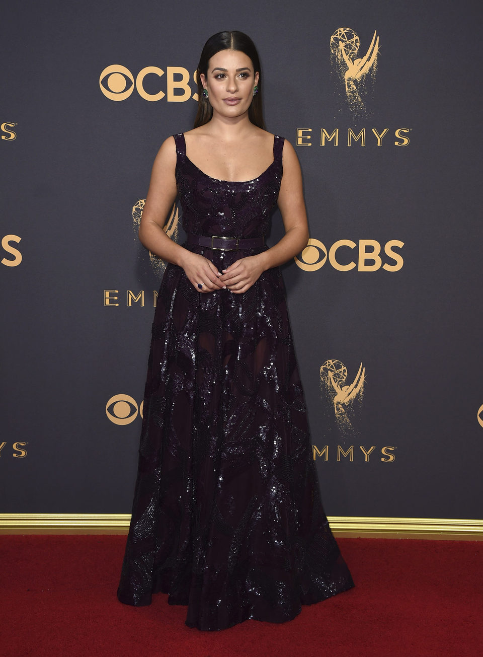 Lea Michele at the Emmys 2017 red carpet