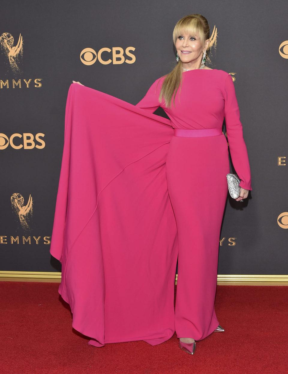 Jane Fonda at the Emmys 2017 red carpet