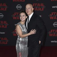 Billie Lourd and father Bryan Lourd at the Star Wars: The Last Jedi premiere