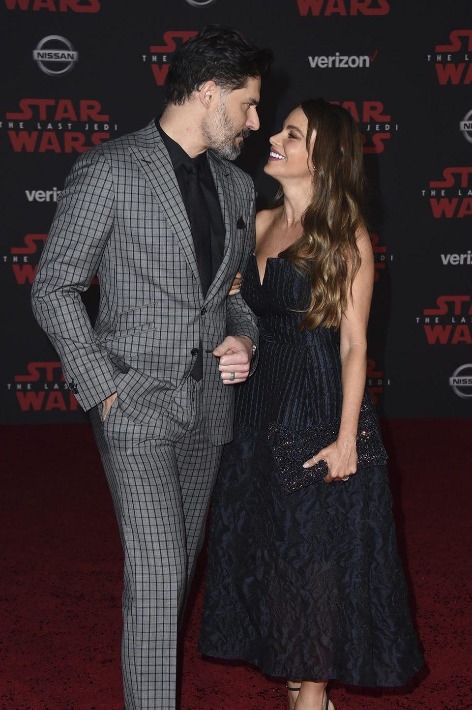 Joe Manganiello and Sofia Vergara at the Star Wars: The Last Jedi premiere