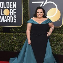 Keala Settle at the red carpet of the Golden Globes 2018