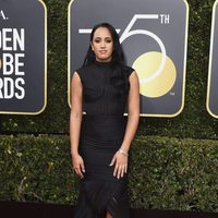 Simone Garcia Johnson at the Golden Globe's red carpet 2018