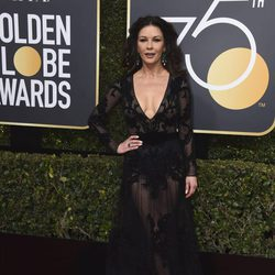 Catherine Zeta-Jones at the red carpet of the Golden Globes 2018