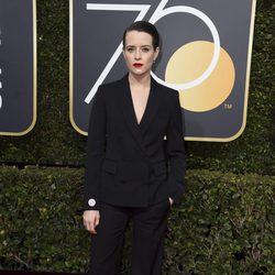 Claire Foy at the red carpet of the Golden Globes 2018