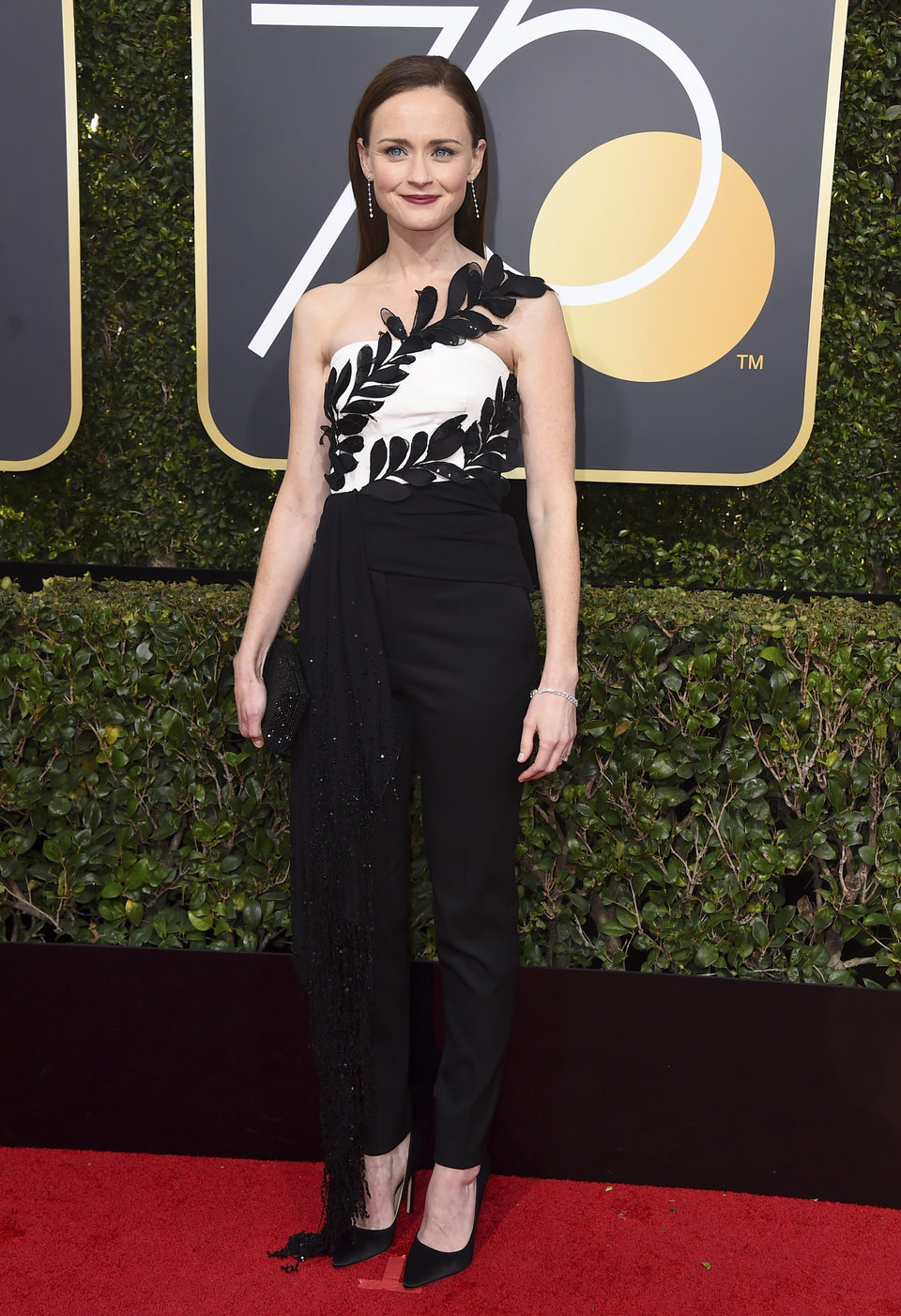 Alexis Bledel at the Golden Globe's red capert 2018