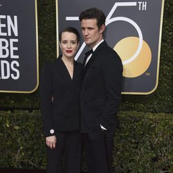 Claire Foy y Matt Smith  at the Golden Globes 2018 red carpet