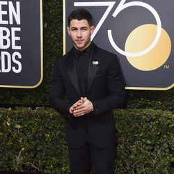 Nick Jonas at the red carpet of the Golden Globes 2018