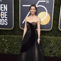 Jessica Biel at the red carpet of the Golden Globes 2018