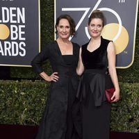 Laurie Metcalf at the Golden Globe's red carpet 2018